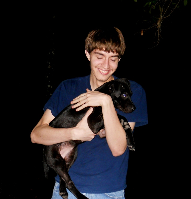 My youngest and his puppy Luna  ⓒBearspawprint2014