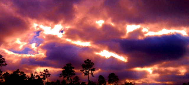 Fast moving clouds and glaring sunlight Tuesday ⓒBearspawprint2015 2.10 2015